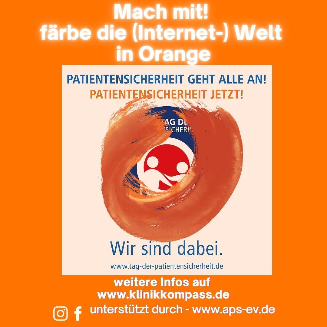Internetaktion: Wir färben die Welt in #orange