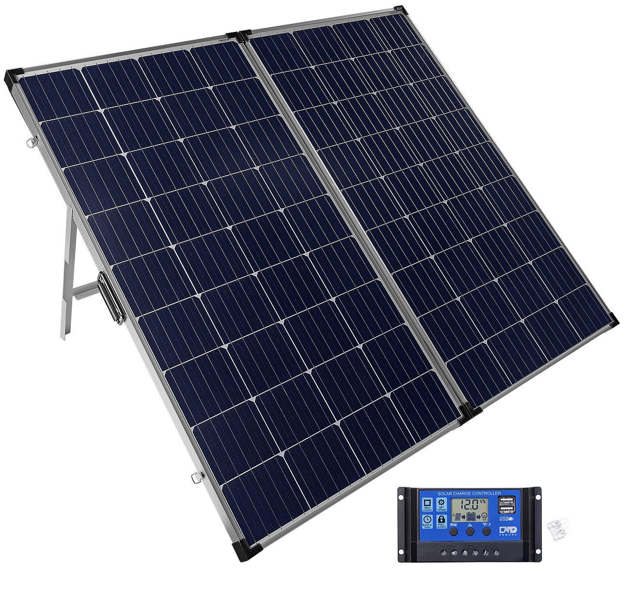revolt Mobiles 260-Watt-Solarpanel mit monokristallinen Zellen & Laderegler, www.pearl.de