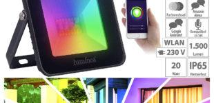Luminea Home Control WLAN-RGB-CCT-Fluter LED-150