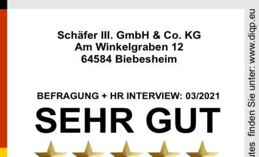 Schäfer III. GmbH & Co. KG  als Top Ausbildungsbetrieb ausgezeichnet