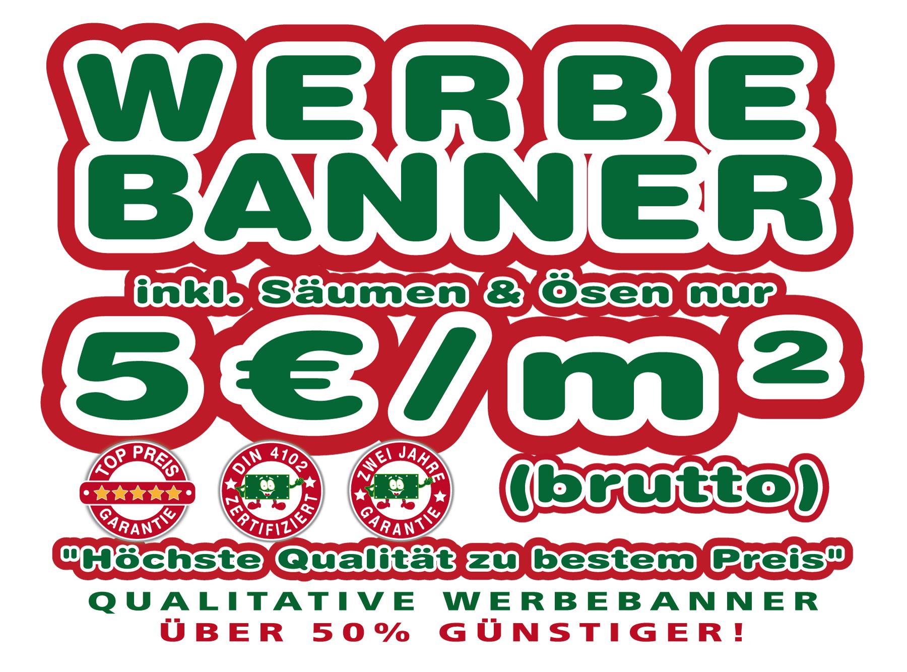 Werbebanner, Meshbanner, PVC-Banner günstig bedrucken