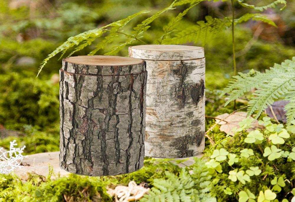 Natur Urnen für die Asche von verstorbenen Haustieren.