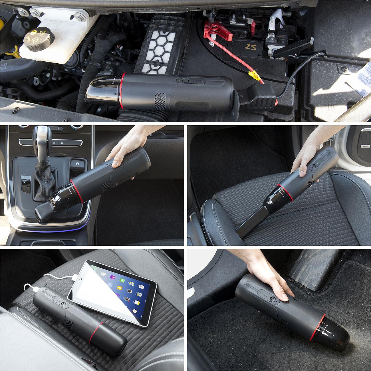 revolt 3in1-Kfz-Starthilfe PB-300.multi, Staubsauger & USB-Powerbank, www.pearl.de