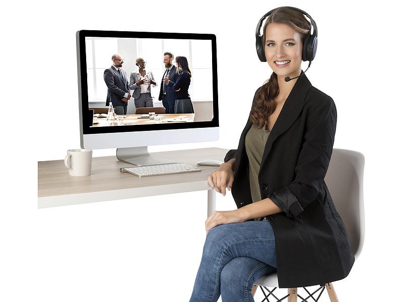 auvisio Digitales Funk-Headset GHS-515.air mit abnehmbarem Mikrofon, www.pearl.de
