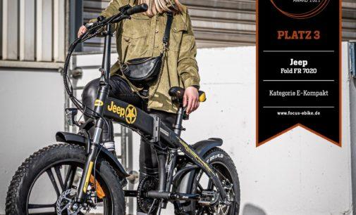 Design Award für den selbstbewussten Auftritt des Newcomers Jeep E-Bikes