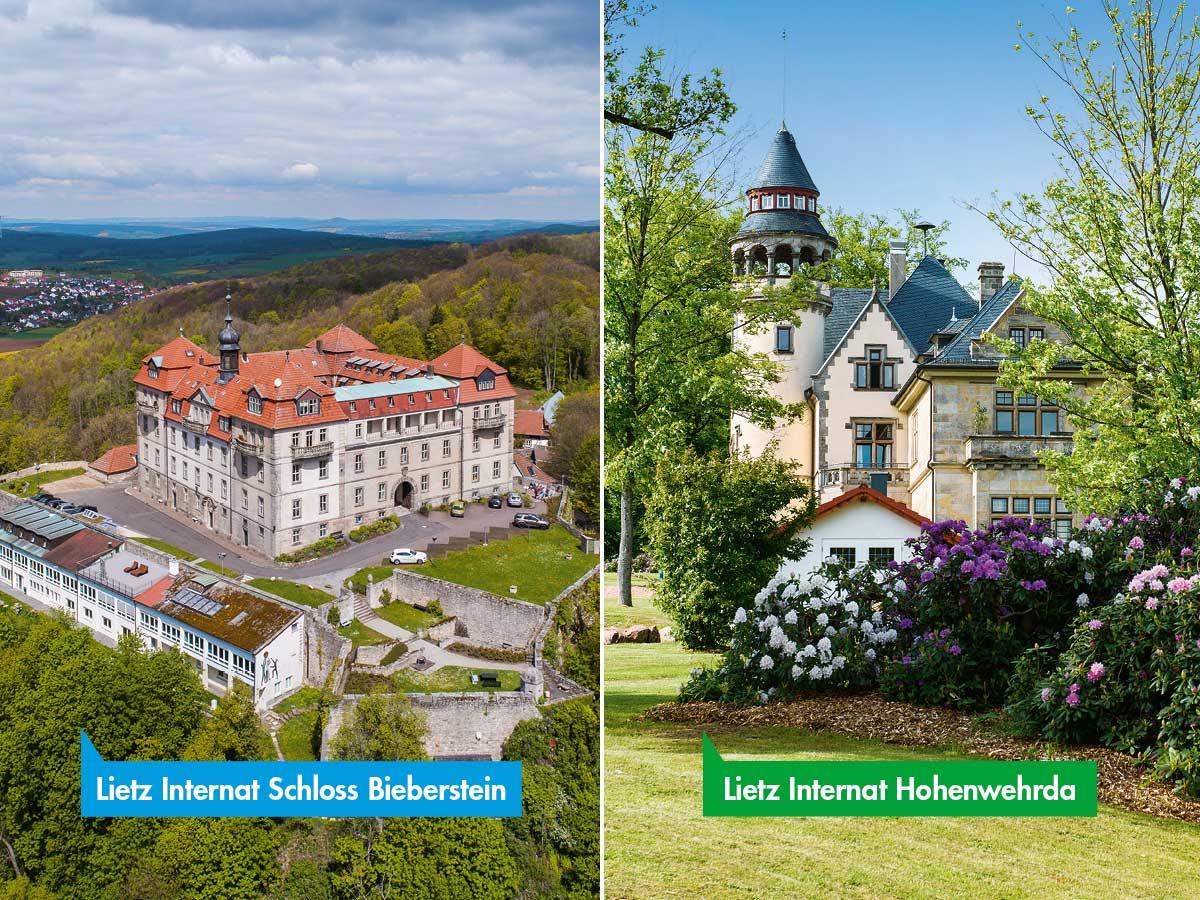Lietz-Internate Schloss Bieberstein und Hohenwehrda in Hessen