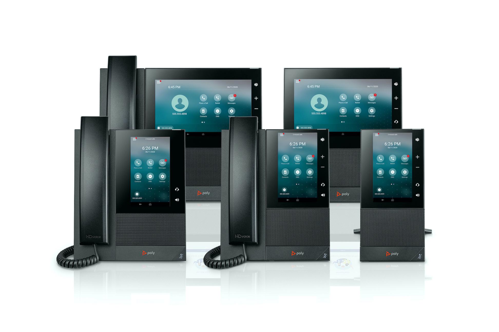 Die Poly CCX-Serie ist wahlweise mit oder ohne Hörer verfügbar. (Bild: Poly)