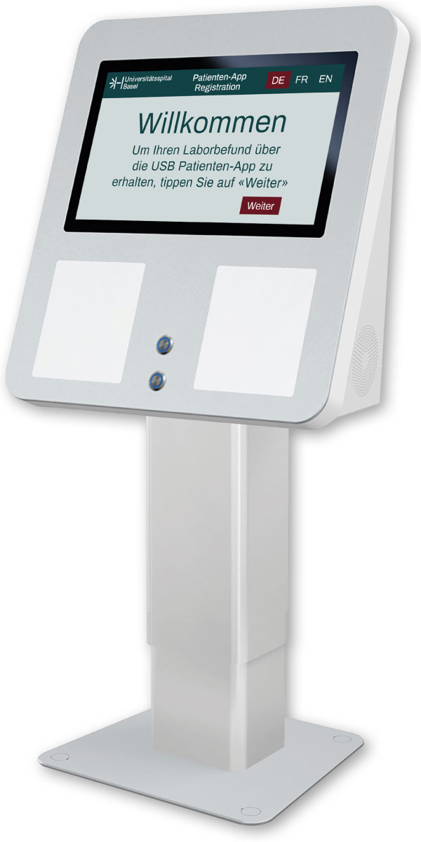 Terminal mit eigens vom USB programmierter Applikation.