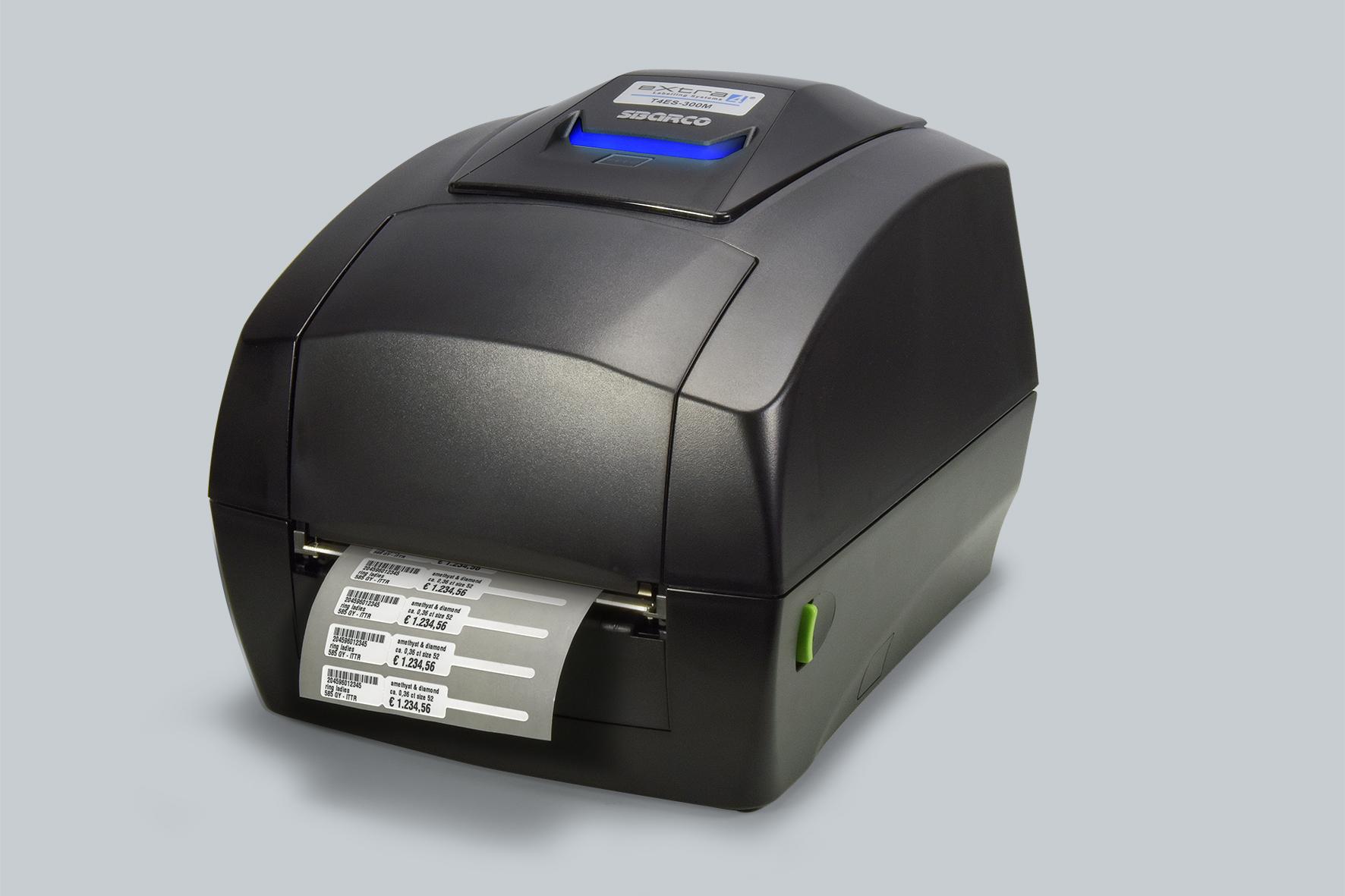 Nur bei eXtra4: für Juwlier-Etiketten modifizierter Thermotransfer-Drucker SBARCO T4ES-300M (300dpi)