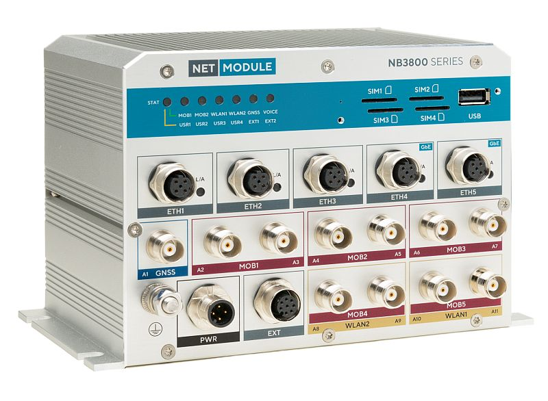 NetModule läutet mit dem 5G High-End-Router NB3850 die 5G-Ära ein.