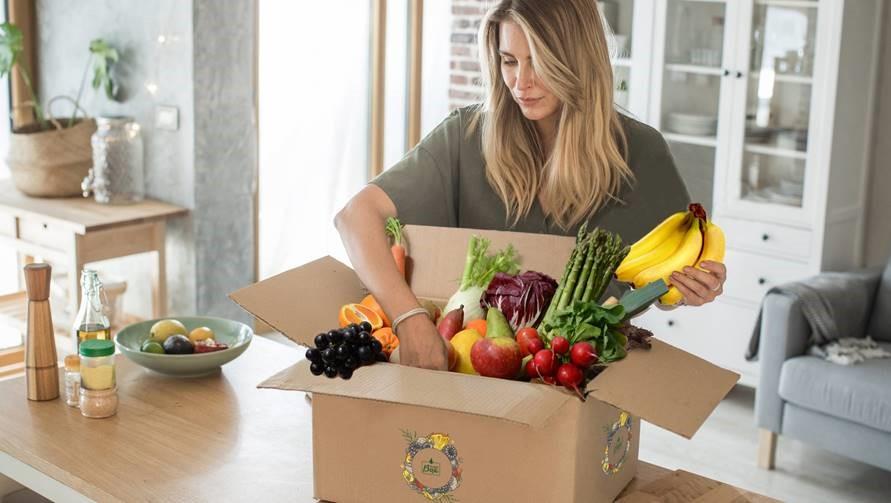 Obst und Gemüse für Zuhause mit der fruitonBox