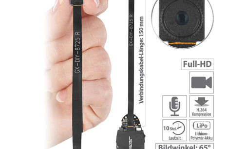 Somikon Full-HD-Micro-Einbau-Kamera DV-310.mini