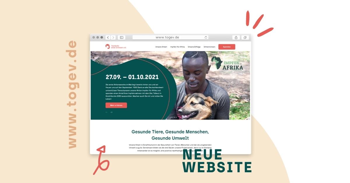 Einblick in die neue Website des Vereins