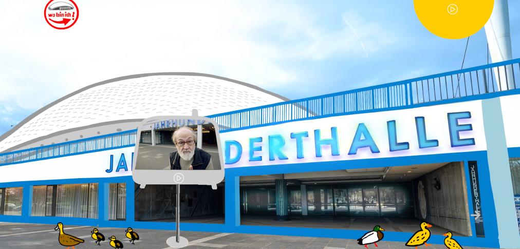 Badesalz Backstage Safari - Eingang zur digitalen Jahrhunderthalle in Frankfurt
