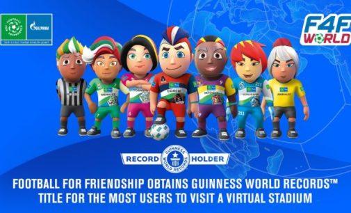 Football for Friendship stellt neuen GUINNESS WORLD RECORDS™ für die meisten Nutzer eines virtuellen Stadions auf