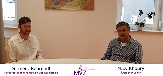 Dr. Marwan Khoury im Gespräch mit seinem Kollegen Dr. med. Florian Behrendt
