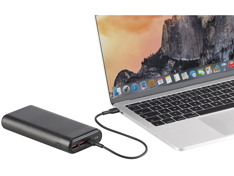 revolt USB-Powerbank PB-230.pd mit 20 Ah, Quick Charge und USB C PD bis 65 Watt, www.pearl.de