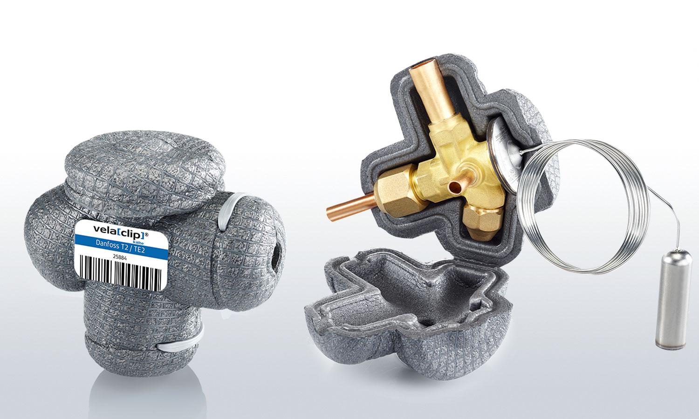 vela[clip] Kälte-Ventilisolierung für Danfoss TE2/T2 Expansionsventile
