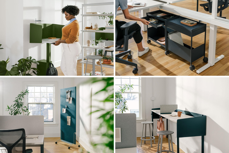 Elemente der OE 1 Workspace Collection von Herman Miller.