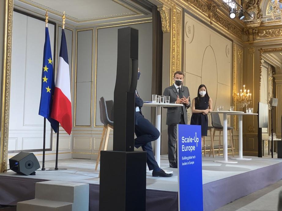 Präsident Macron begrüßt das Manifest der Initiative Scale-Up Europe