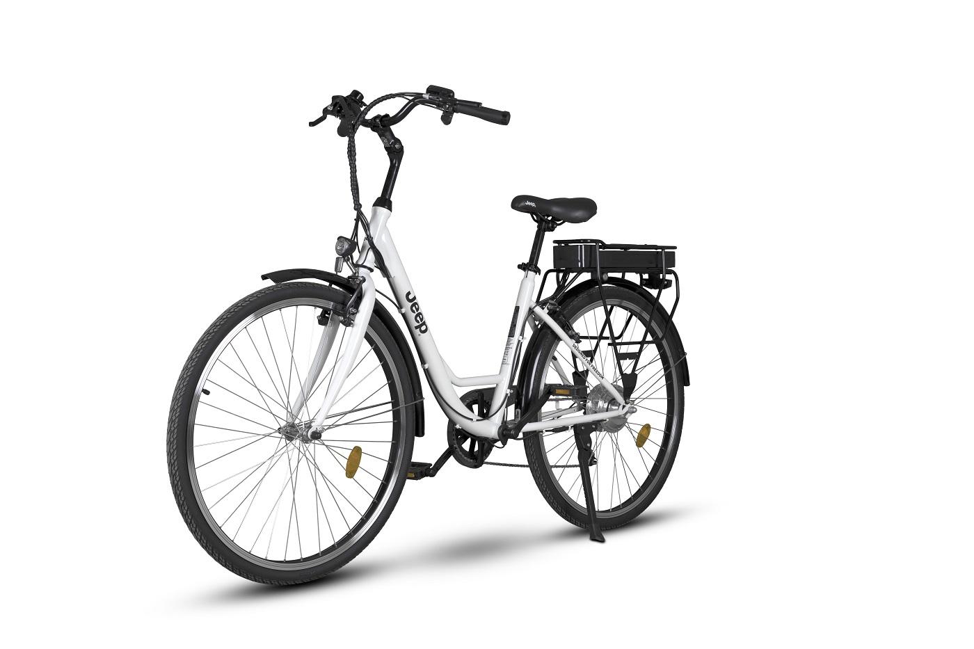 Das Jeep City E-Bike ECR 3001 steht für elegantes Design und attraktives Preis-Leistungsverhältnis.