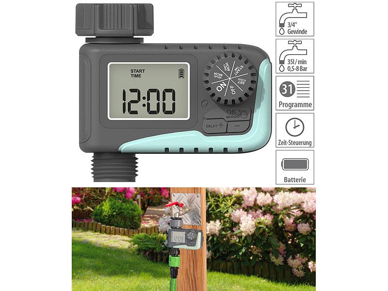 Royal Gardineer  Digitaler Bewässerungscomputer mit LCD-Display, www.pearl.de