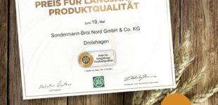 Sondermann-Brot erhält zum 19. Mal in Folge den DLG-Preis  DLG-Experten bestätigen die langjährige Produktqualität