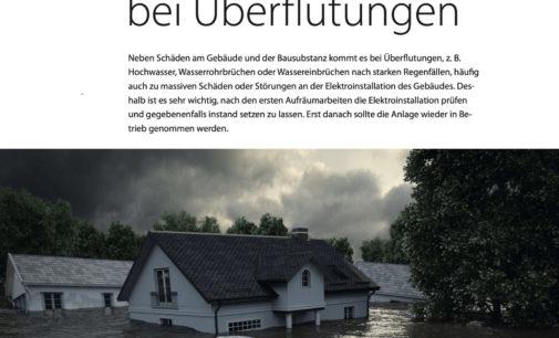 Elektrosicherheit bei Überflutungen