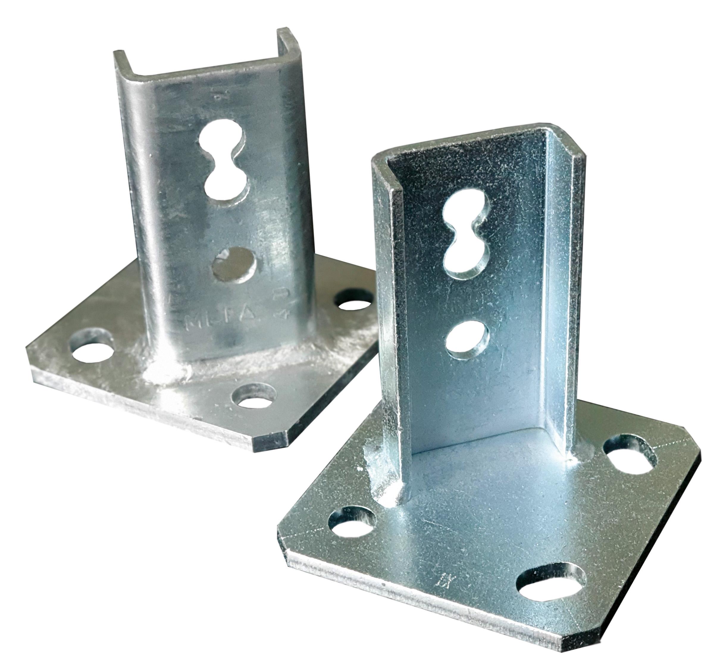 Mit dem MEFA Schienenhalter 45 l/q ist die Längs- und die Quermontage gleichermaßen möglich.