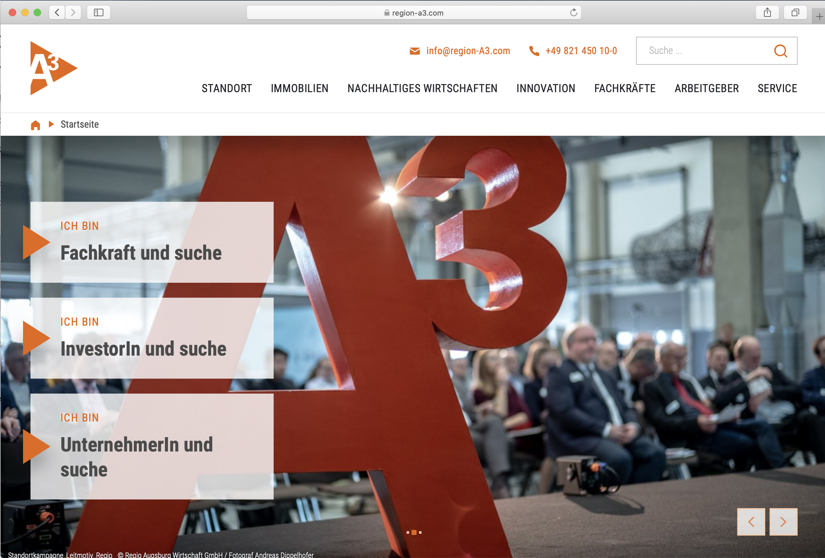 Das neue Web-Portal der Regio A3 ist online