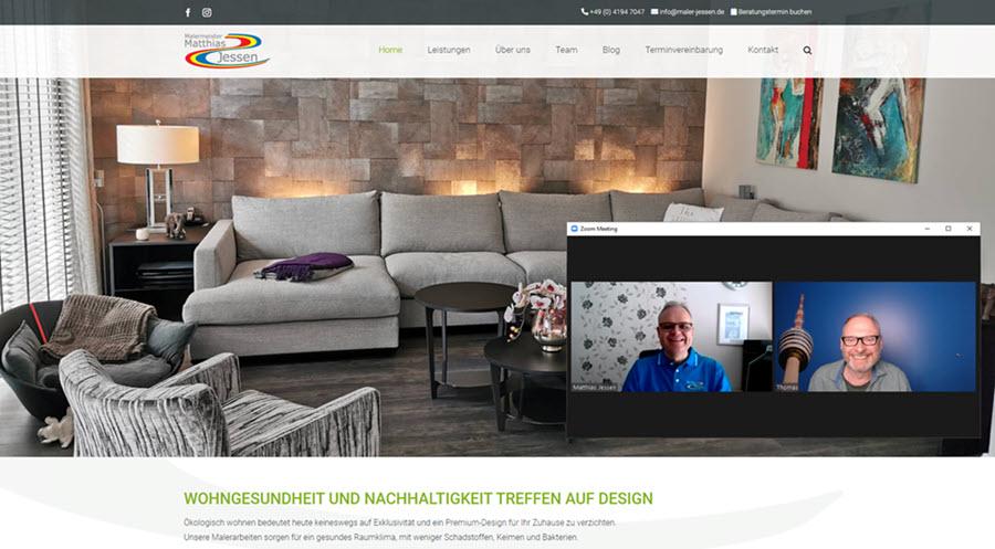 Matthias Jessen und Thomas Issler bei der Abnahme der neuen Website