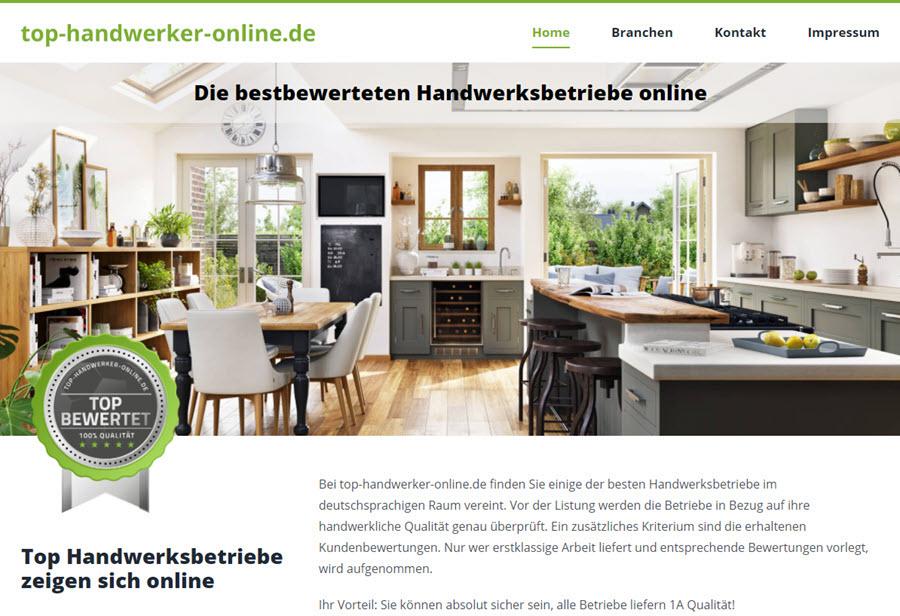 Top-Handwerker-Online: Die bestbewerteten Handwerksbetriebe