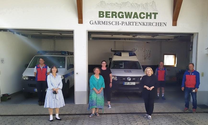 Besuch bei der Bergwacht Garmisch-Partenkirchen