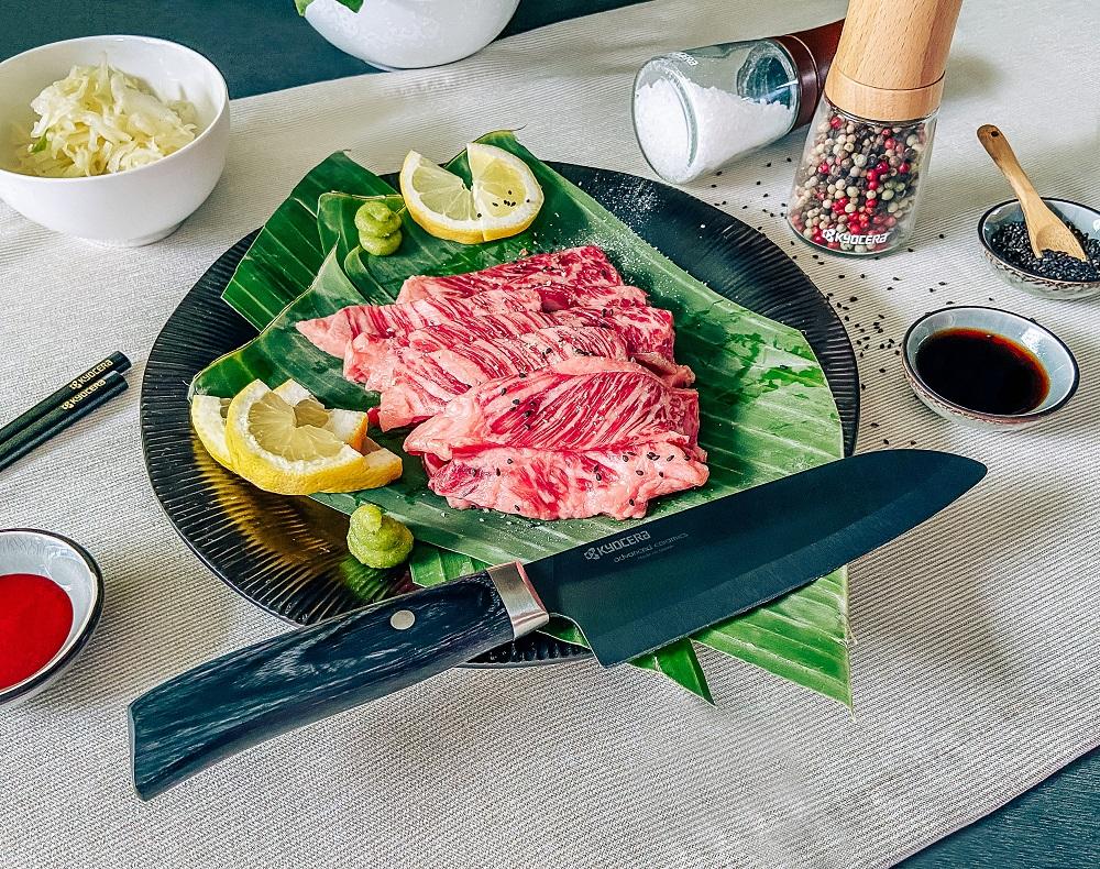 Kyocera: Messer und Gewürzmühlen für die Zubereitung der japanischen Grilltradition