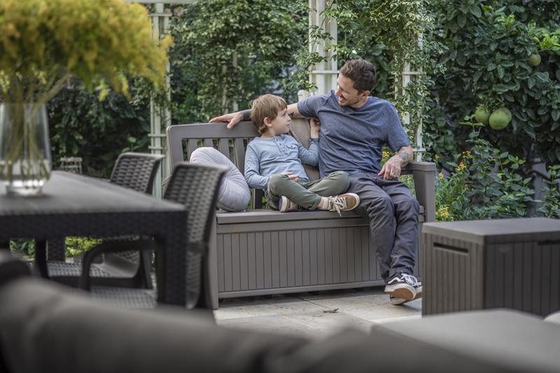 Gartenmöbel und andere Keter-Produkte bestehen schon heute zu über 40% aus Recyclingmaterial