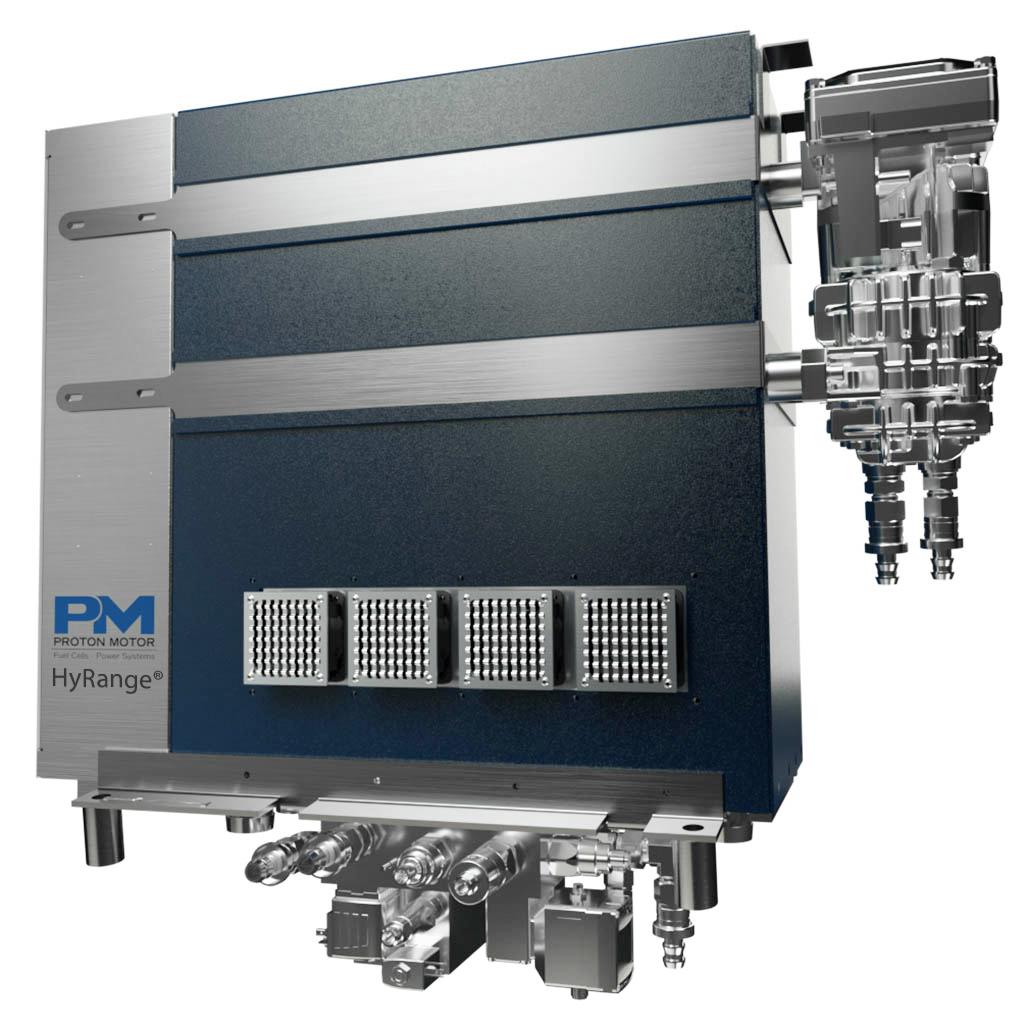 Hohe Nachfrage für das HyRange®-System der Proton Motor Fuel Cell GmbH zur Reichweitenverstärkung.
