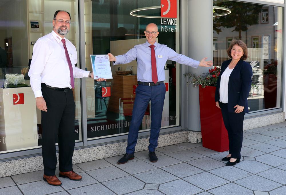 "LEMKE hören aus Neu-Ulm hat die Zertifizierung zum ""TOP Sozial"" Unternehmen geschafft"