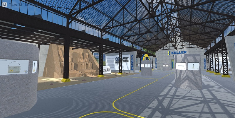Einblick in einen virtuellen Ausstellungsraum des digitalen Museums