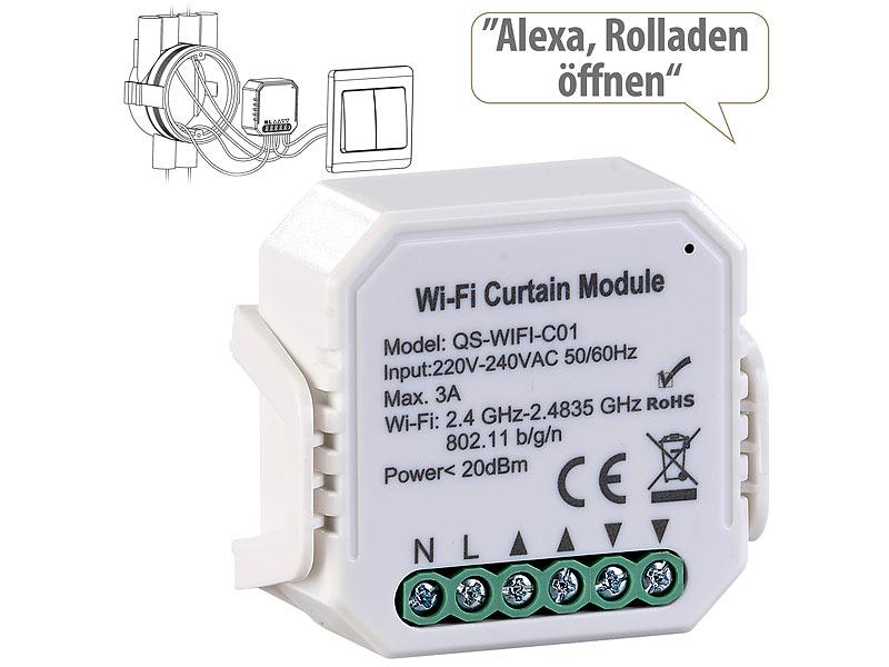 Luminea Home Control WLAN-Unterputzmodul für smarte Rollladen-Steuerung per App, www.pearl.de