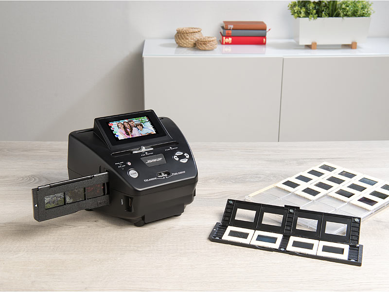 Somikon Stand-Alone-Foto-, Dia- & Negativscanner SD-2000, 2.850 dpi, 20 MP, Display, www.pearl.de