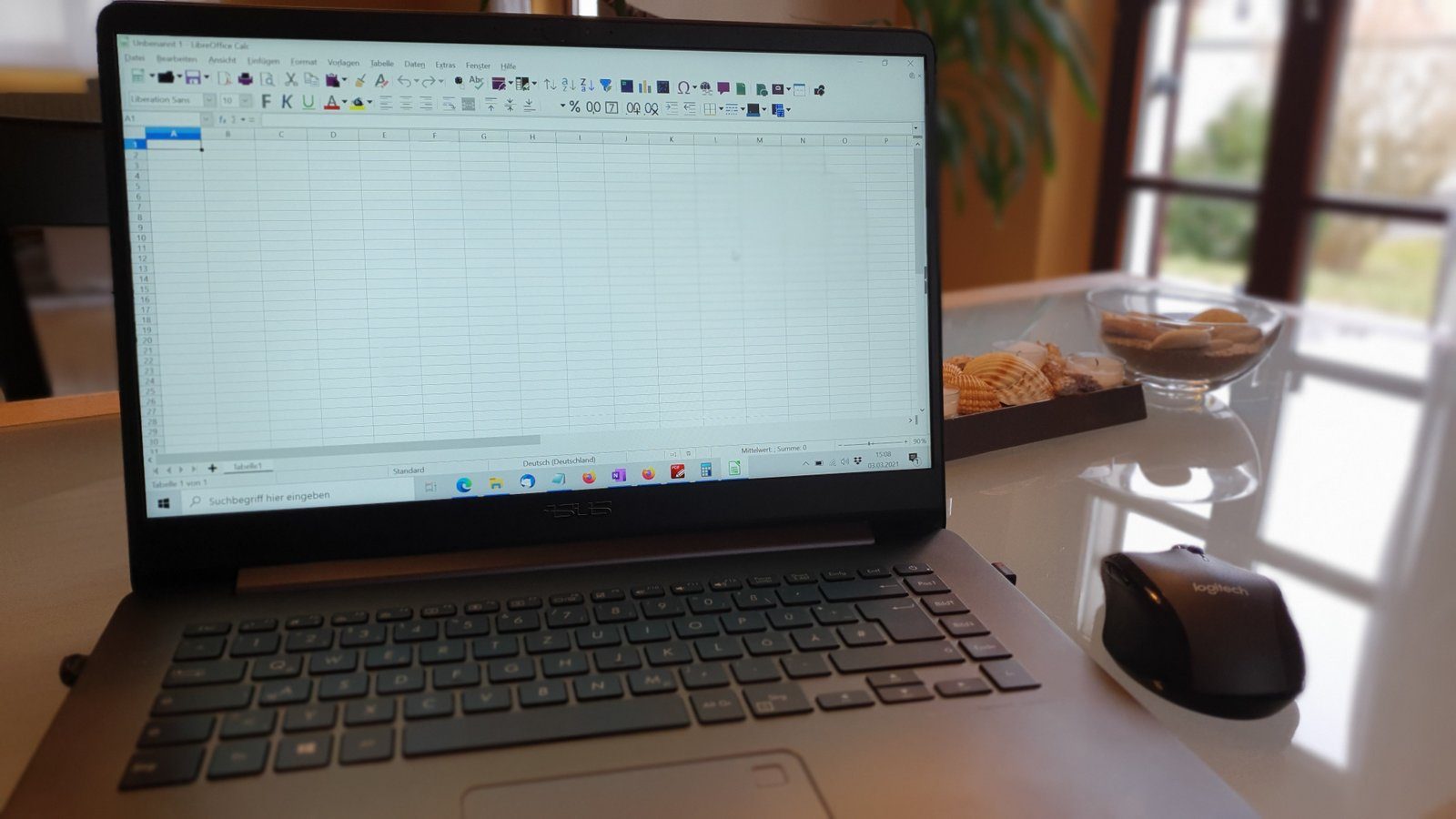 Homeoffice mit Laptop