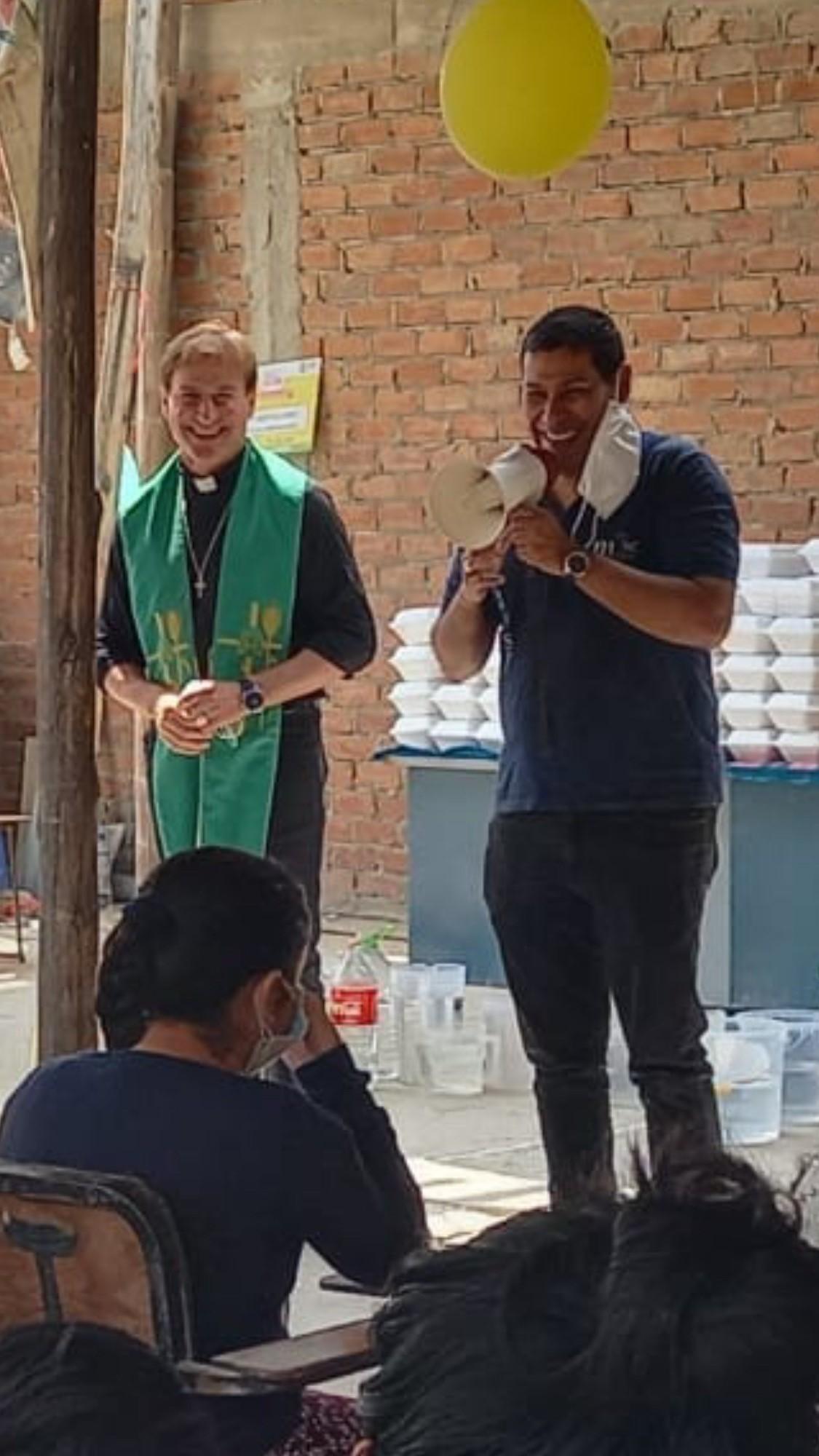 Erzbischof Prälat Thomas Doell und Bischof Jesus Gabriel Gutierrez in Lima.