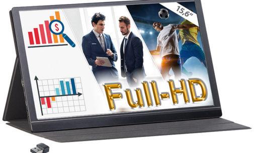 auvisio Mobiler Full-HD-IPS-Monitor EZM-210 (opt. mit WLAN-Stick)