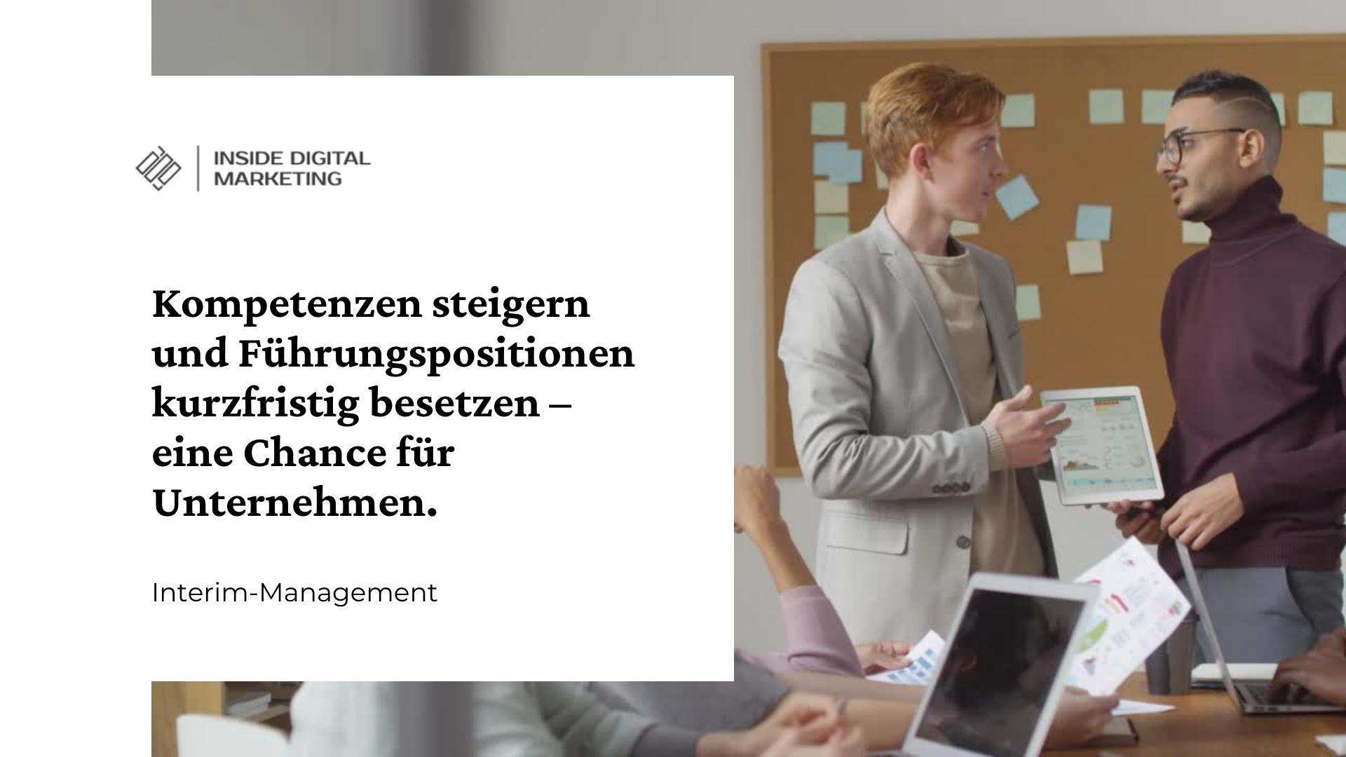 Interim-Management digitales Marketing - Online-Marketing