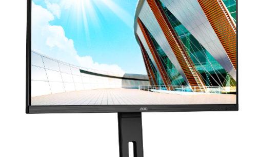 AOC präsentiert vier neue Displays mit QHD, 4K und USB-C
