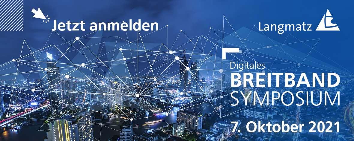 Das Breitband-Symposium 2021 findet in diesem Jahr erstmals als virtueller Kongress statt.