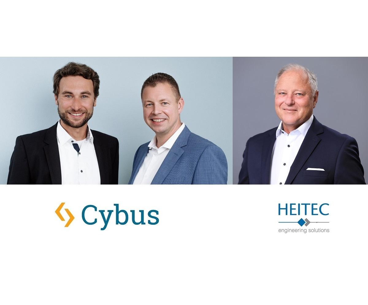 Peter Sorowka, Carsten Stiller (CEO, CSO bei Cybus) und Ekkehard Reuß (Vorstand der HEITEC AG)