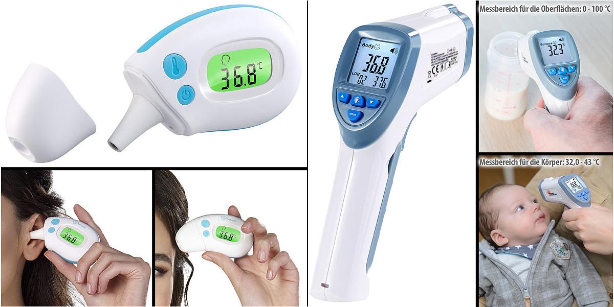 newgen medicals medizinische Infrarot-Fieberthermometer IRT-60 und IRT-50.mini, www.pearl.de