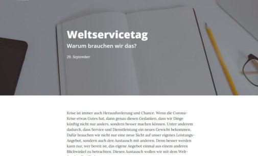 Deutsche Unternehmen starten Initiative für Weltservicetag