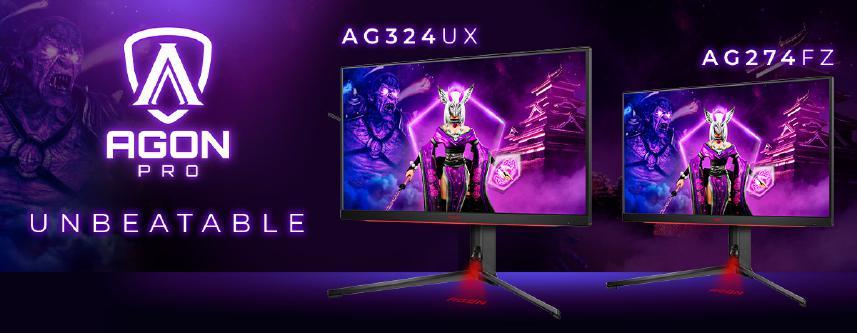 AGON PRO AG324UX: 4K-Auflösung, 144 Hz Bildwiederholrate, 1 ms GtG und HDR400-Support
